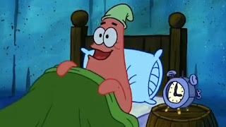 polosan patrick makan krabby patty jam 3 pagi