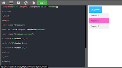 dropdown menu html css code