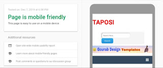 taposi blogger template mobile friendly test