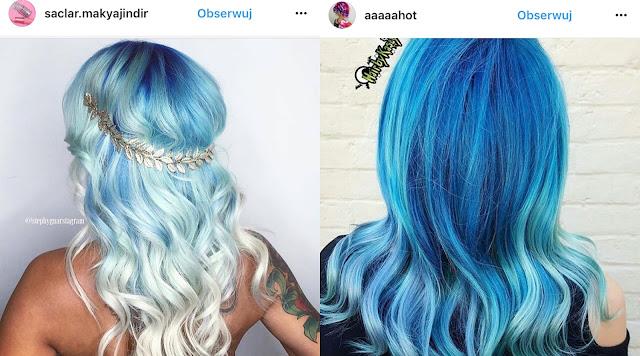turkusowe włosy pastelowe