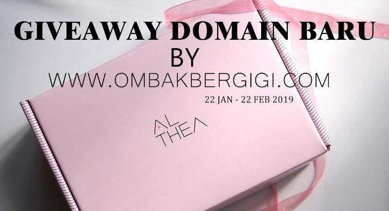 PEMENANG GIVEAWAY DOMAIN BARU BY OMBAKBERGIGI