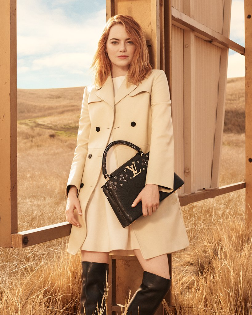 The Spirit of Travel features Emma Stone as the newest LouisVuitton muse, wearing LVPrefall by TWNGhesquiere