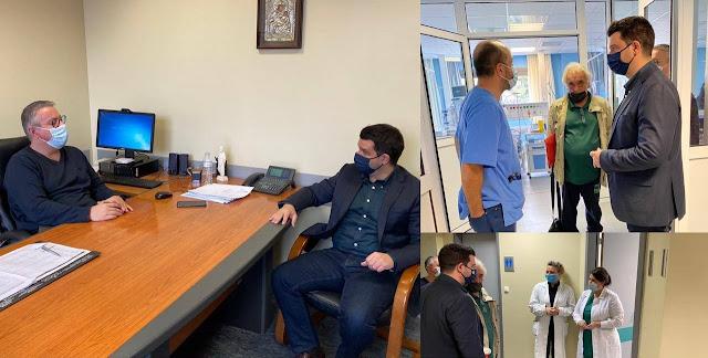 Επίσκεψη Μάριου Κάτση στο Νοσοκομείο Φιλιατών