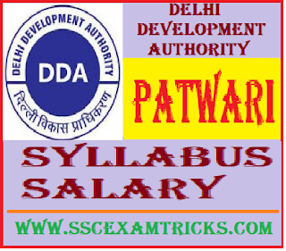 Delhi Development Authority DDA Patwari Syllabus
