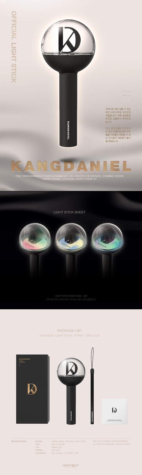 Kang Daniel Finally Has an Official Lightstick, See How It Looks