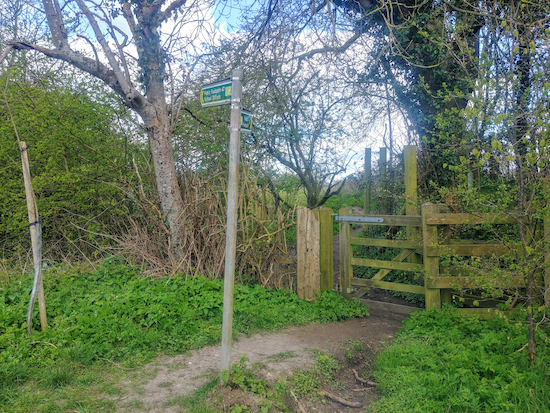 The footpath off Rushden Road mentioned in point 7 below
