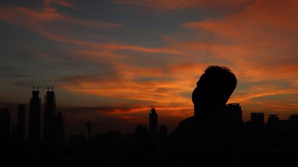 Ada Senja di Rooftop Badan Litbang Kemendagri