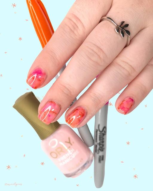 Super Simple Sharpie Nail Art 25 Sweetpeas