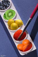 разные цвета фруктов