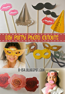 DIY Party Photo Cutouts