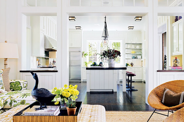white kitchen in Napa Valley farmhouse by Ken Fulk in C Magazine