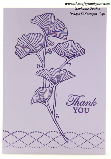 #thecraftythinker  #stampinup  #cardmaking  #beautifullybraided  #simplestamping , Beautifully Braided, Simple Stamping, Thank you card, Stampin' Up Demonstrator, Stephanie Fischer, Sydney NSW