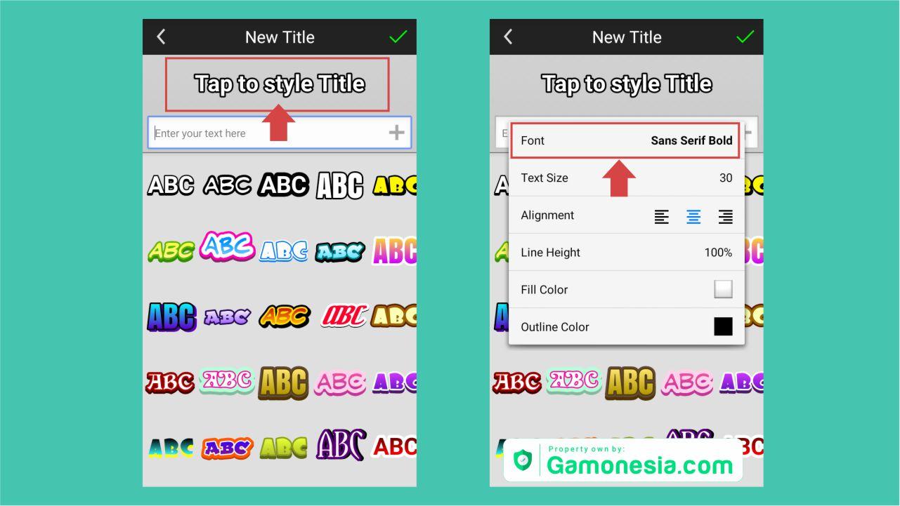 bagaimana cara menambah font di picsay pro
