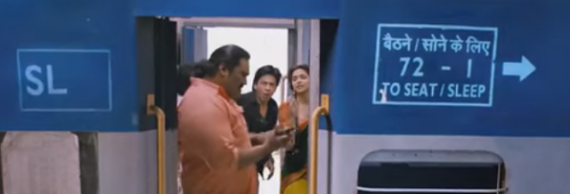 shahrukh on train
