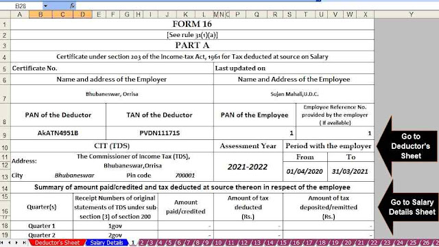 Income Tax Revised Form 16 Part A and B