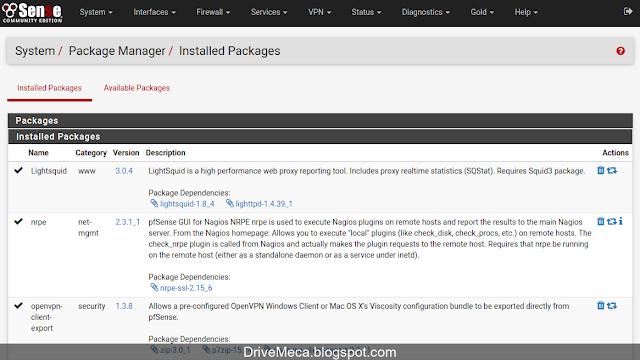 DriveMeca instalando y configurando Lightsquid en firewall pfSense