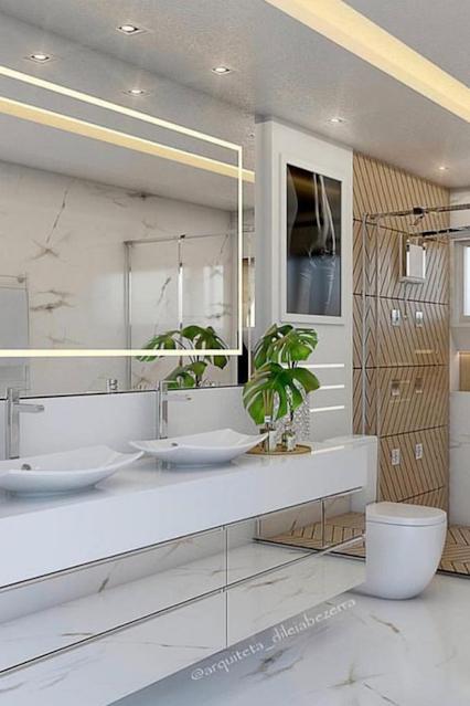 banheiro moderno espelho jateado