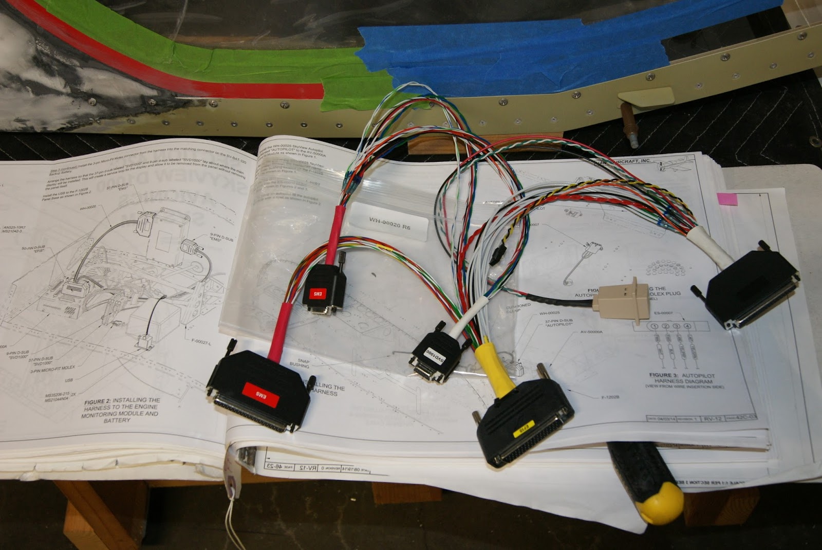 DOG Aviation John's RV-12 Blog: More Wiring Installed & ADS-B ... on wire strap, wire bushing, wire tape,