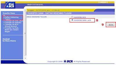 Cara Menambah Daftar Rekening Tujuan di KlikBCA / Internet Banking BCA