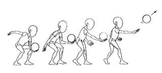 saque de voleibol tecnica