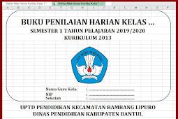 Daftar Nilai Harian Kurikulum 2013 Kelas 1 s/d 6 Lengkap