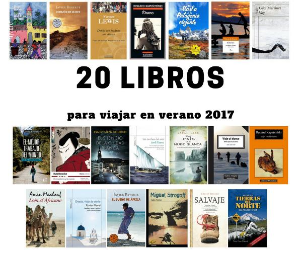 20 libros para viajar en verano 2017