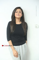 Telugu Actress Mishti Chakraborty Latest Pos in Black Top at Smile Pictures Production No 1 Movie Opening  0038.JPG