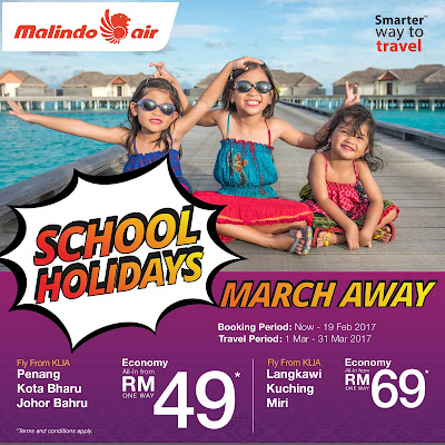 Malindo Air March School Holiday Cheap Air Fares Flight Ticket Discount Promo