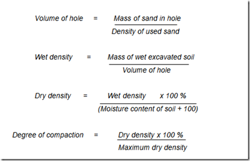 Field density test engineering feed for 98 soil compaction