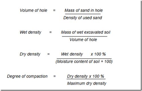 Field density test for Soil volume calculator