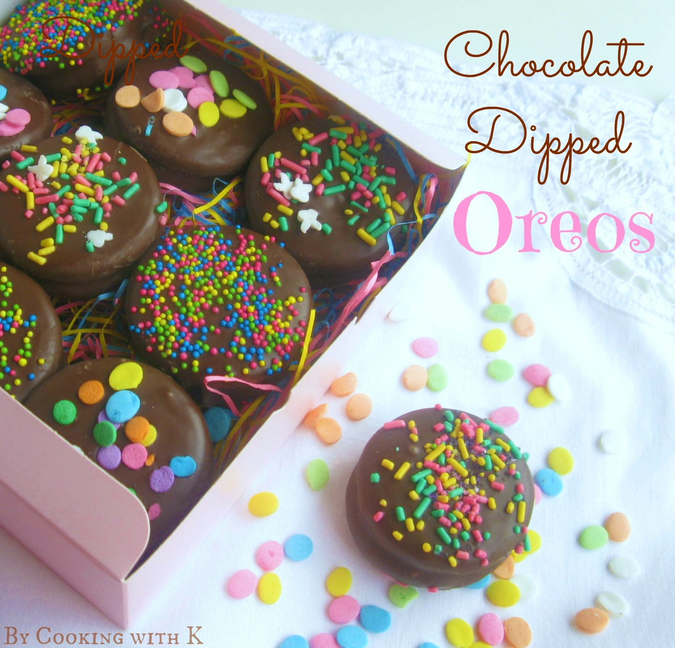 how to dip chocolate covered oreos