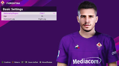 PES 2020 Faces Lorenzo Venuti by Rachmad ABs
