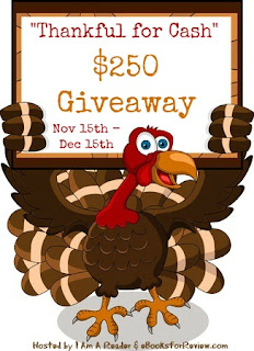 Enter the Thankful for Cash $250 Giveaway. Ends 12/15