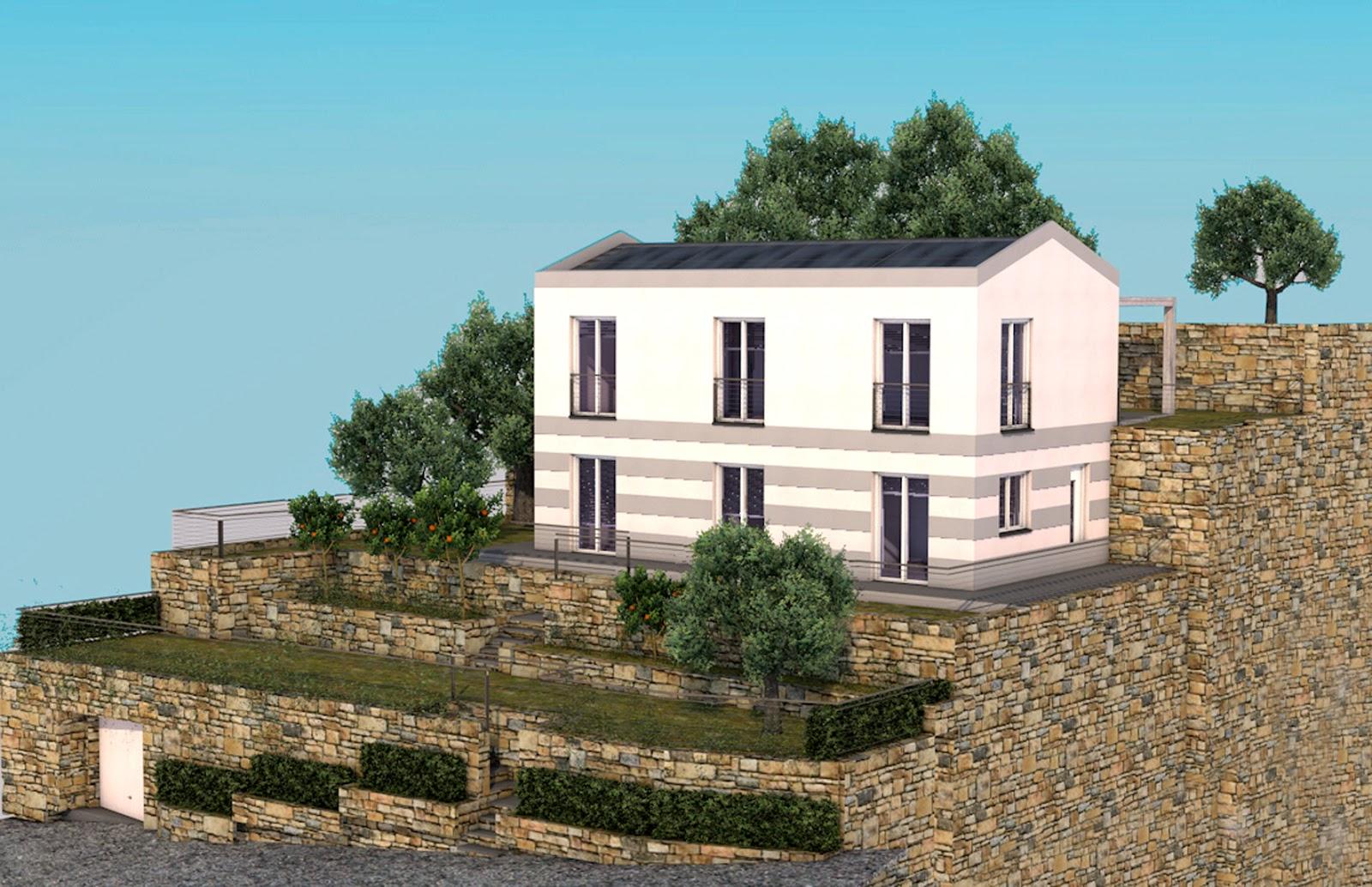 Case a 2 piani m su piani al pianterreno soggiorno con for Costo medio a lato di una casa a 2 piani