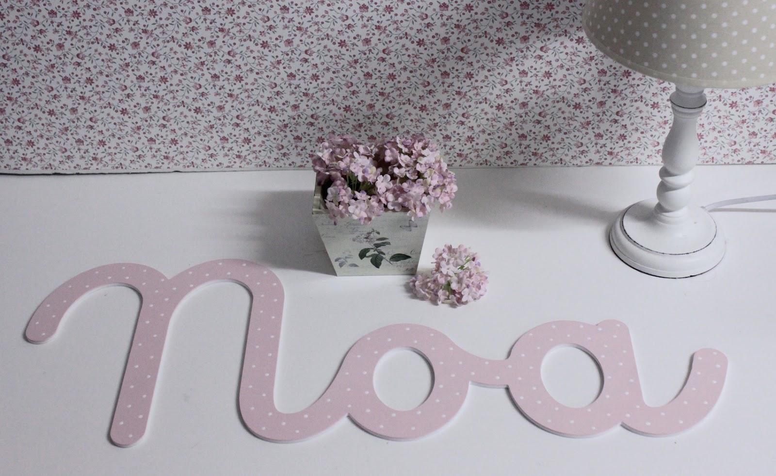 Letras en caligraf a infantil para decorar habitaciones de - Formas de letras para decorar ...