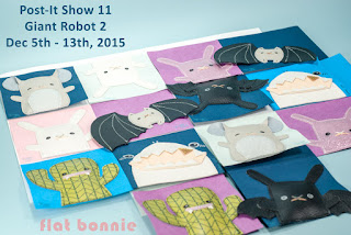 Flat-Bonnie-Post-It-Show-11-Giant-Robot-Shark-Bunny-Cactus-Chinchilla