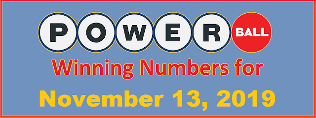 PowerBall Winning Numbers for Wednesday, November 13, 2019