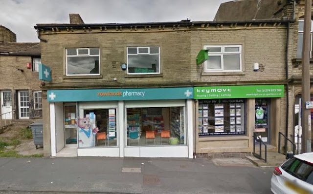 "Man's body found above Rowlands Pharmacy in High Street, Queensbury, ""dead for several weeks"""