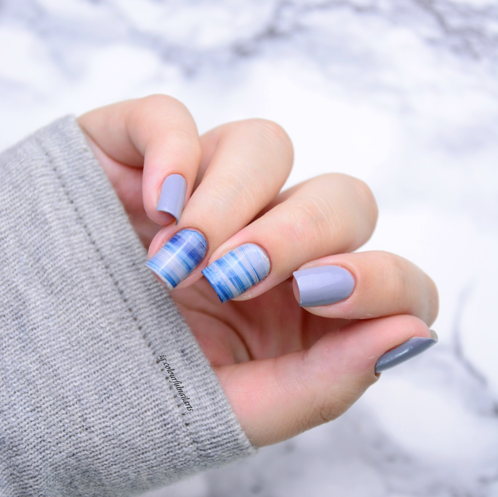 tutorial marmor nails colourfulnailarts. Black Bedroom Furniture Sets. Home Design Ideas