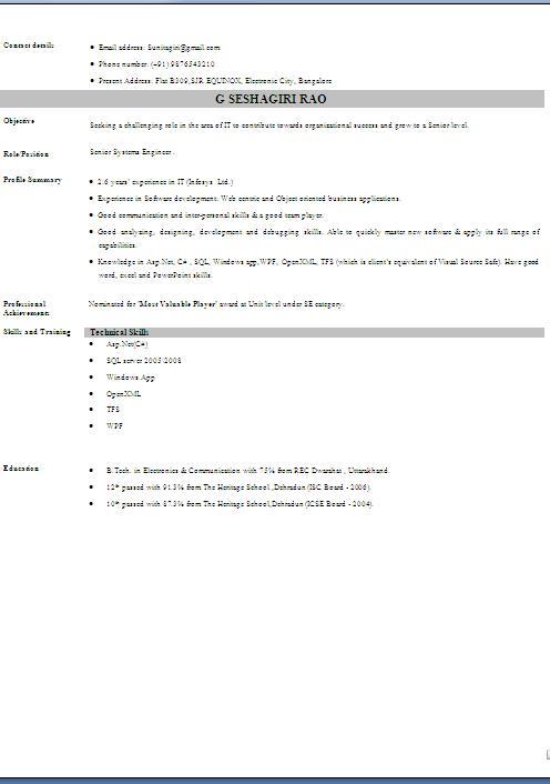 blank cv template free