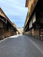 Florence, Italy Ponte Vecchio Under Lockdown during COVID-19 coronavirus