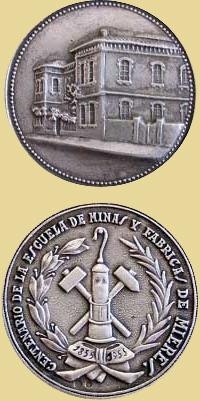 Medalla del Centenario de la Escuela de Facultativo de Minas de Mieres