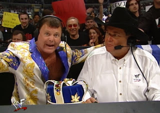 WWF Backlash 2000 - Jim Ross and Jerry 'The King' Lawler hosted the event