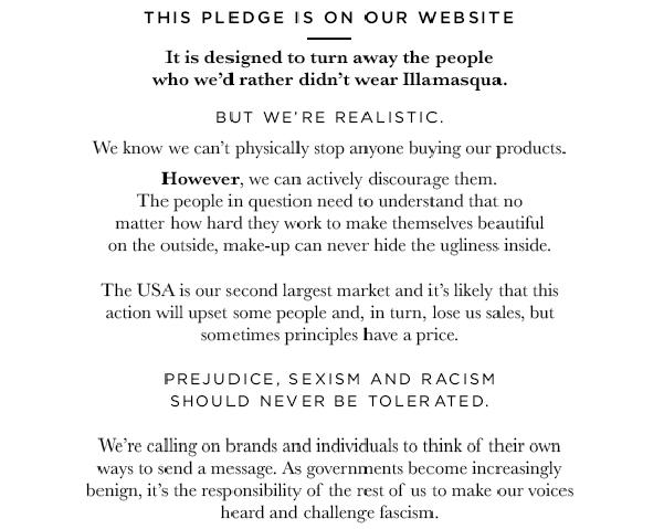 Illamasqua Pledge