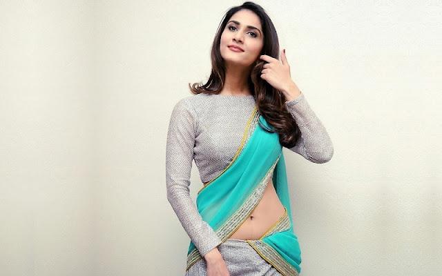 Vaani Kapoor in Sexy Blue Saree