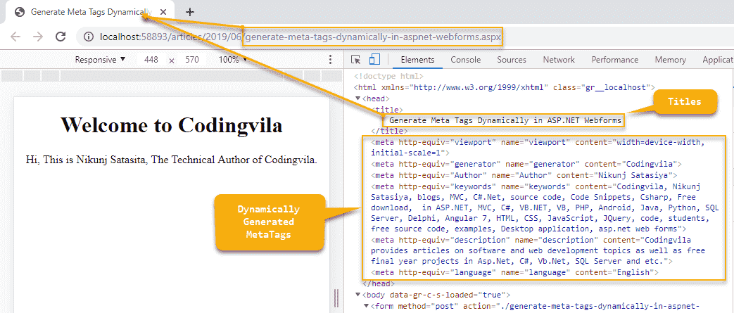 Generate Meta Tags Dynamically in ASP.NET Web Forms C#