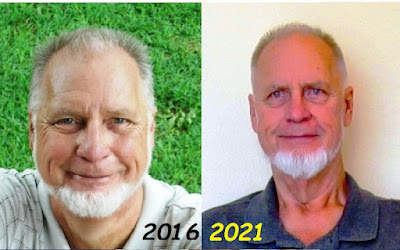 Pictures of Rick from 2015 and 2021