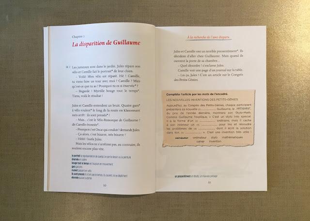 """Recenzje #192 - """"À la recherche de l'ami disparu"""" - przykładowe strony rozdziału - Francuski przy kawie"""