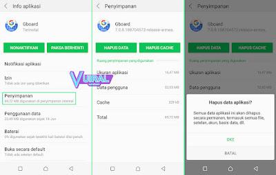 Cara Mengembalikan Pengaturan Keyboard Seperti Semula Di HP Android Dengan Menghapus Data Aplikasi