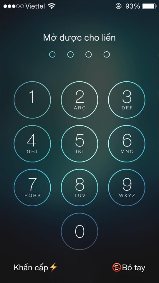 Cách đổi dòng chữ nhập mật khẩu trên iPhone